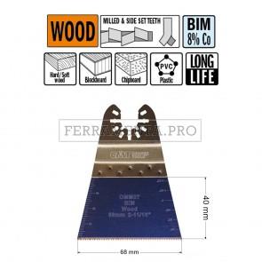 LAMA LONG LIFE TAGLIO LEGNO PLASTICA 68mm per CMT 11 MULTIFUNZIONE OSCILLANTE UNIVERSALE