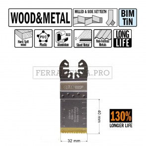 LAMA LONG LIFE TAGLIO LEGNO METALLO 32mm per CMT 11 MULTIFUNZIONE OSCILLANTE UNIVERSALE