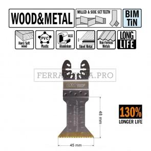 LAMA LONG LIFE TAGLIO LEGNO METALLO 45 mm per CMT 11 MULTIFUNZIONE OSCILLANTE UNIVERSALE