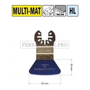 RASCHIETTO RIGIDO PULIZA RESIDUI 52mm per CMT 11 MULTIFUNZIONE OSCILLANTE UNIVERSALE