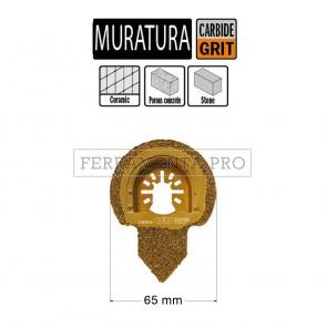 LAMA METALLO DURO PULIZIA MALTA 65mm per CMT 11 MULTIFUNZIONE OSCILLANTE UNIVERSALE