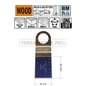 LAMA LONG LIFE TAGLIO LEGNO PLASTICA 34mm CMT per MULTIFUNZIONE OSCILLANTE FEIN FESTOOL