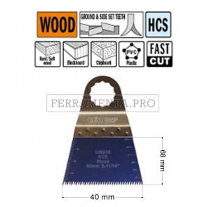 LAMA TAGLIO PRECISIONE LEGNO PLASTICA 68mm CMT per MULTIFUNZIONE OSCILLANTE FEIN FESTOOL
