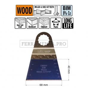 LAMA LONG LIFE TAGLIO LEGNO PLASTICA 68mm CMT per MULTIFUNZIONE OSCILLANTE FEIN FESTOOL