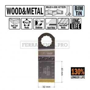 LAMA LONG LIFE TAGLIO LEGNO METALLO 32mm CMT OMS13 per MULTIFUNZIONE FEIN FESTOOL