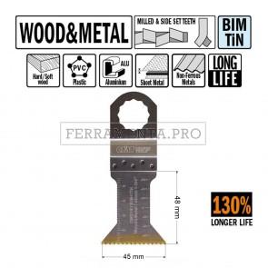 LAMA LONG LIFE TAGLIO LEGNO METALLO 45mm CMT per MULTIFUNZIONE FEIN FESTOOL OSCILLANTE