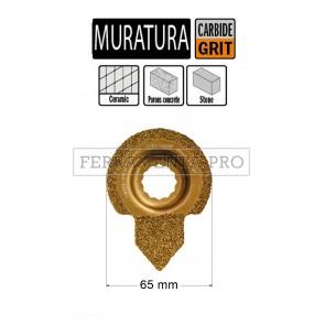 LAMA METALLO DURO PULIZIA MALTA 65mm per CMT 11 MULTIFUNZIONE FEIN FESTOOL OSCILLANTE
