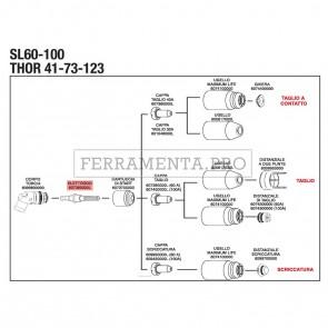 ELETTRODO SL60 / SL100 per RICAMBIO PLASMA STEL THOR 73 123 CONFEZIONE DA 5 PZ