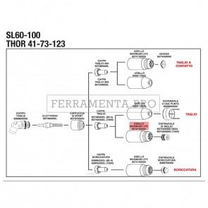 UGELLO MAXIMUM LIFE SL60 / SL100 per RICAMBIO PLASMA STEL THOR 73 123