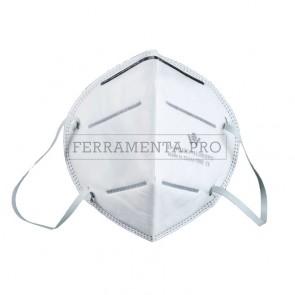 10 x MASCHERINA FACCIALE FILTRANTE MONOUSO FFP2 pieghevole senza valvola - Confezione da 10