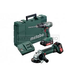 Metabo Combo Set 2.4.3 18 V Macchine a batteria nel kit in Valigetta in plastica