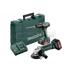 Metabo Combo Set 2.4.4 18 V Macchine a batteria nel kit in Valigetta in plastica