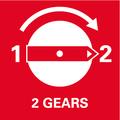 Cambio a 2 velocità meccaniche: due velocità di foratura per forare efficacemente legno e metallo