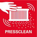 PressClean: pulizia manuale del filtro grazie al potente flusso d'aria, azionando il pulsante sull'aspiratore