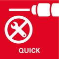 Cambio rapido Metabo Quick: dell'attacco utensile e dell'utensile utilizzato per lavorare in maniera flessibile
