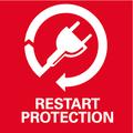 Protezione antiriavviamento: impedisce l'avviamento accidentale in seguito a un'interruzione di corrente