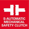 Frizione di sicurezza Metabo S-automatic: sganciamento meccanico della trasmissione al bloccarsi dell'utensile utilizzato, per lavorare in tutta sicurezza