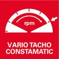 Elettronica a onda piena Vario-Tacho-Constamatic (VTC) con rotella: per lavorare con velocità adeguate ai materiali, che rimangono costanti anche sotto carico